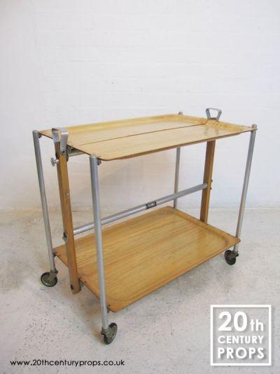 Folding hostess trolley