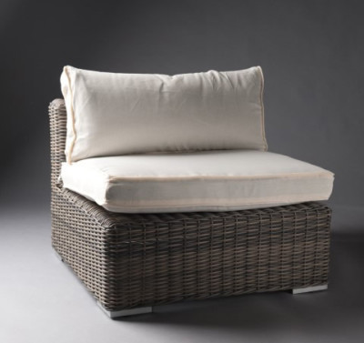 White Outdoor Rattan Chair