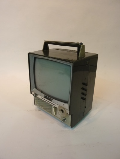 Retro Portable Mini 1980's Sony TV