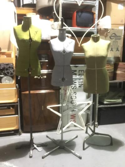 Vintage dress mannequins
