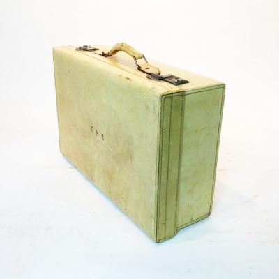 White Leather Medium Briefcase