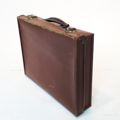 Brown Leather Slim Briefcase