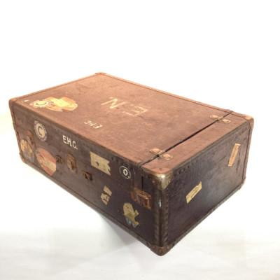 Large Black Vintage Luggage Case