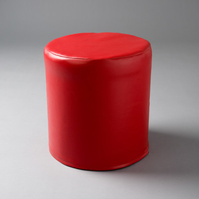 Small Red Round Pouf