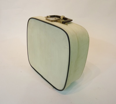 Small White with Blue Trim Vanity Case
