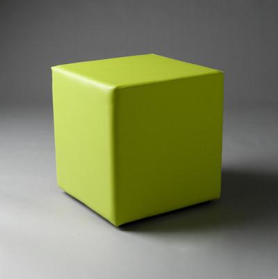 Small Green Square Pouf