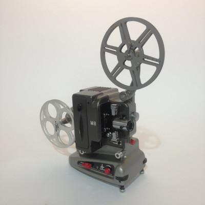 Silver and Black Bolex 8mm Film Projector
