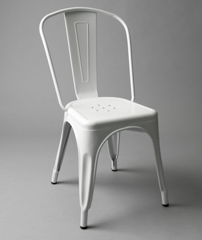 White Metal Outdoor Chair (With or Without Padding)