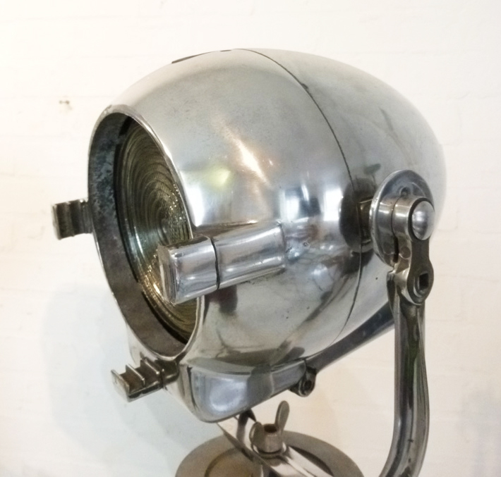 Wimbledon Stadium Lights: Vintage Polished Chrome Spotlight