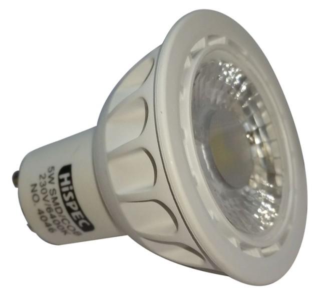 3X Hispec LED Light GU10 5w = 50w Daylight White COB Bulb