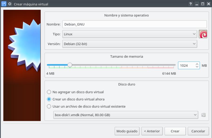 VirtualBox - Crear maquina