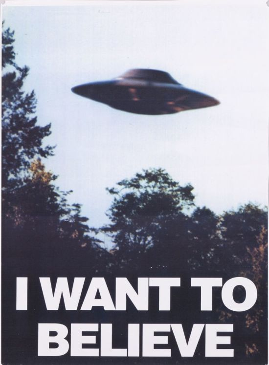 I couldn't find an X-Files Movie poster with this tagline on it, but trust me, this was super clever when I thought of it on the bus.