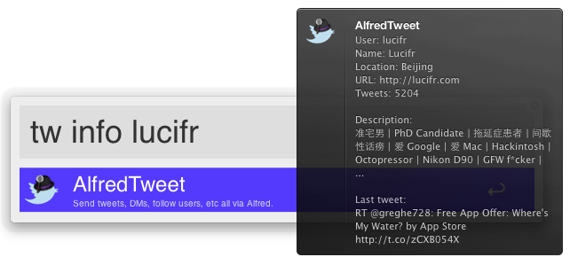 AlfredTweet