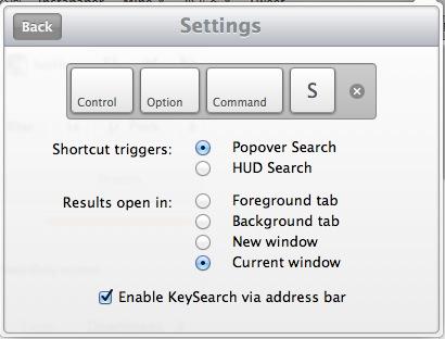 KeySearch - Setting