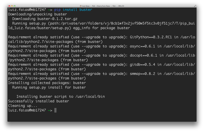 pip install buster