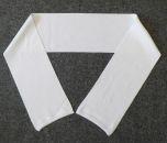 Bílé 100% polyesterové bezešvé šály vhodné pro sublimační potisk.