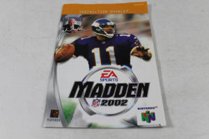 Manual - Madden 2002 - Nintendo N64 Football