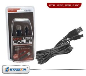 PS3 / PSP 10 Foot Mini USB Cable