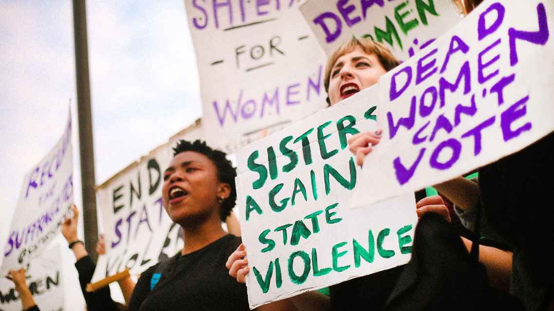 Campaigning for domestic violence services | Sisters Uncut