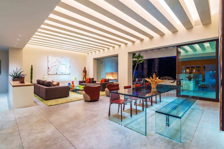 A beautiful dynamic modern estate, this home is situated on corner lot that totals over 22,000 square feet. The home boasts Ricardo Legorreta's ...