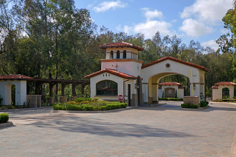 The gated community of Fairbanks Ranch includes a variety of estates.