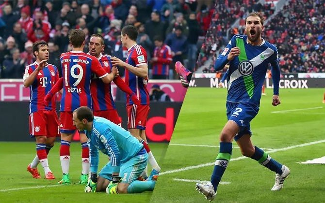 Crazy Bundesliga : 8-0 for Bayern, 4-5 for Wolfsburg