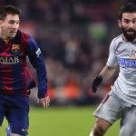 Lionel Messi (Barcelona) playing against Atlético Madrid - AFP