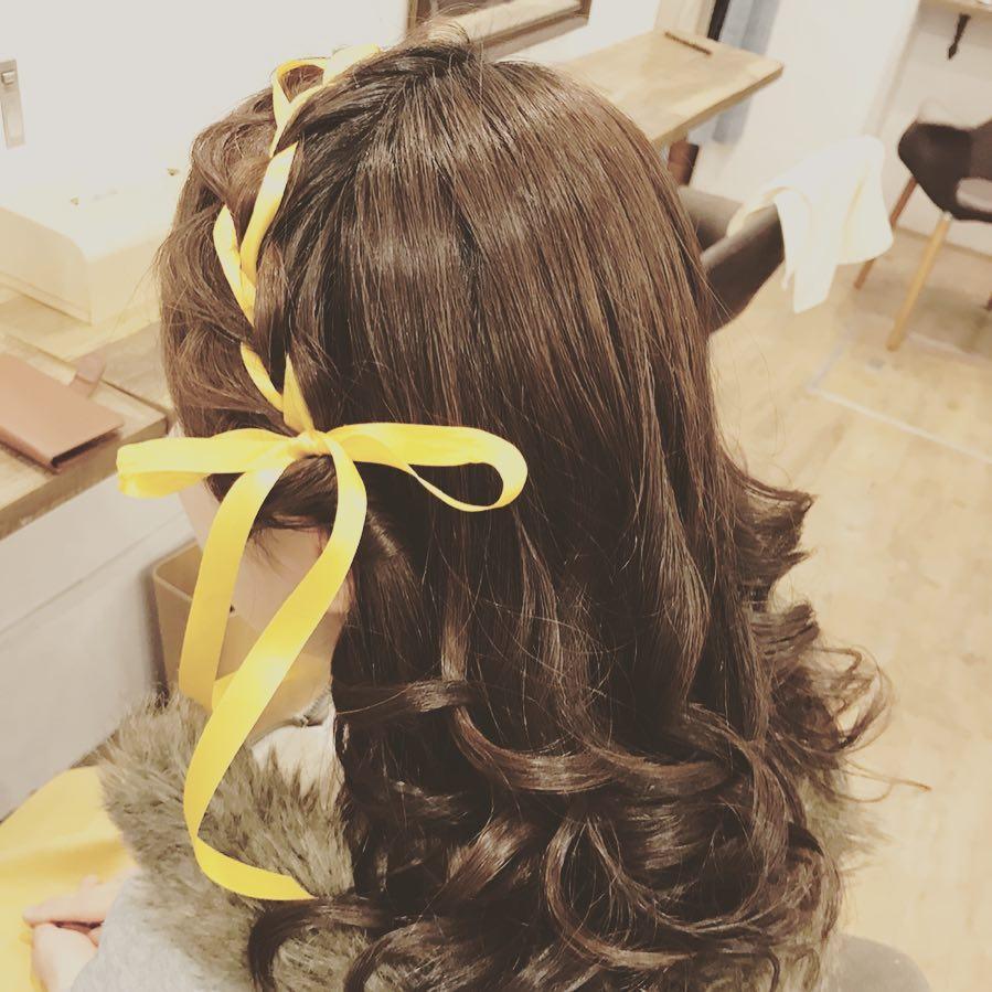 髪型 リボン型