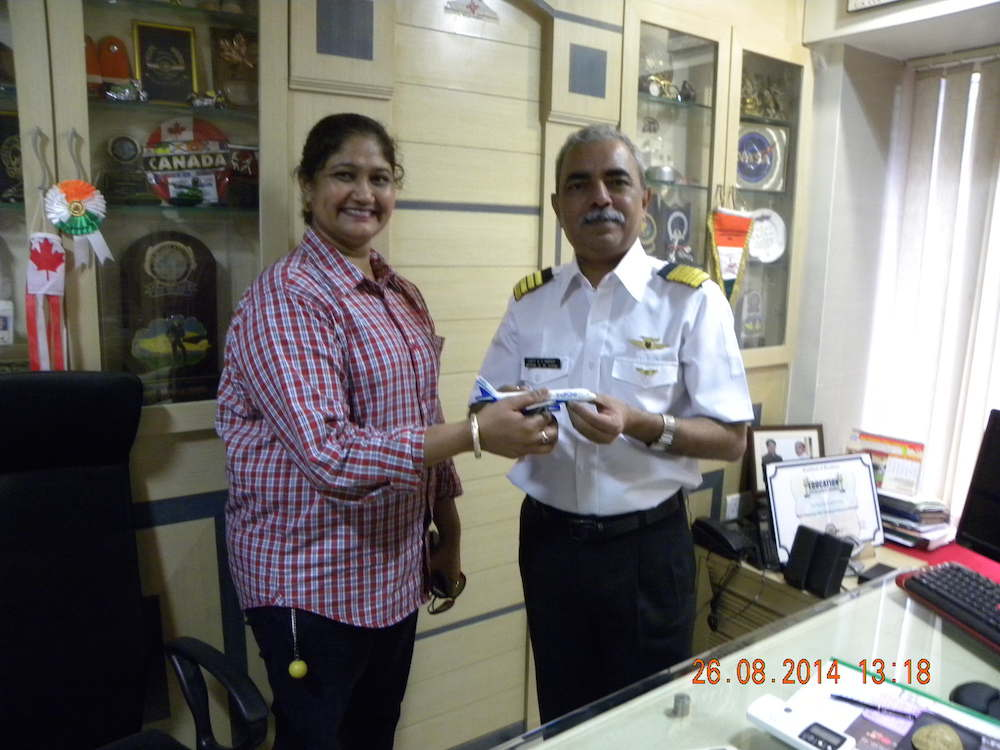First Woman Helicopter Pilot - Our Ex-student Capt Aruna