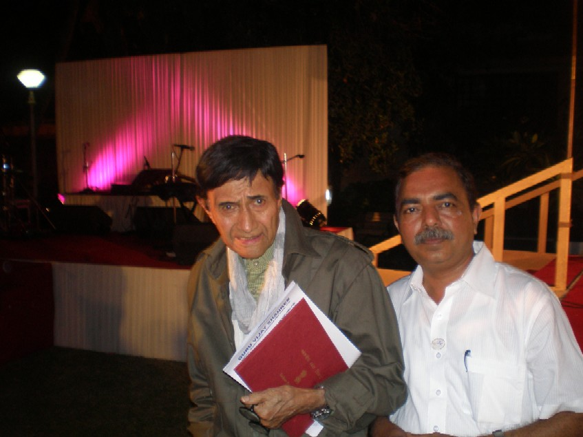 Bollywood - Creative Direction for Areial shots. Actor Dev Anand with Capt A.D Manek