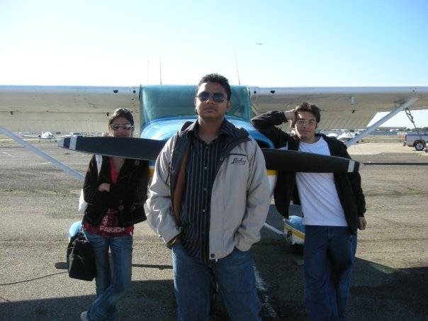 Some of our Skyliners at our Affliated flight School in America - Flying Vikings Inc -                   getting ready for a flight