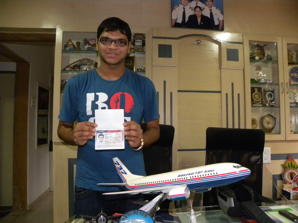 Capt Sajan Patel one of our students who recently achieved his DGCA Commercial Pilot License