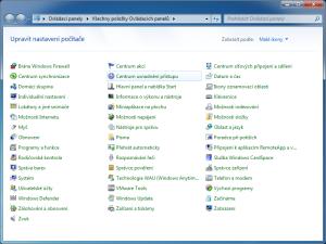 Windows 7 - Centrum usnadnění přístupu