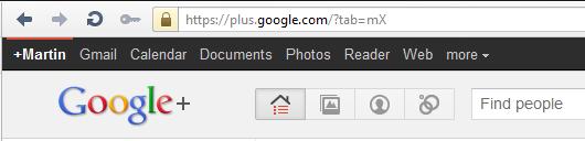 Google+ header