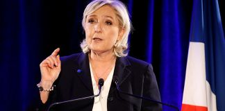Marine Le Pen, French National Front (FN) political party leader.