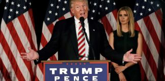 US President Donald Trump and his daughter Ivanka