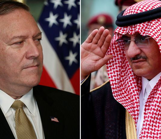 Mike Pompeo, Saudi Crown Prince Mohammed Bin Nayef