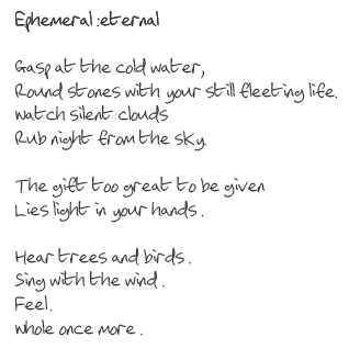Ephemeral:eternal