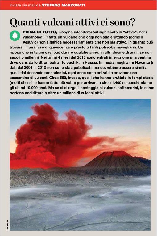 vulcani attivi