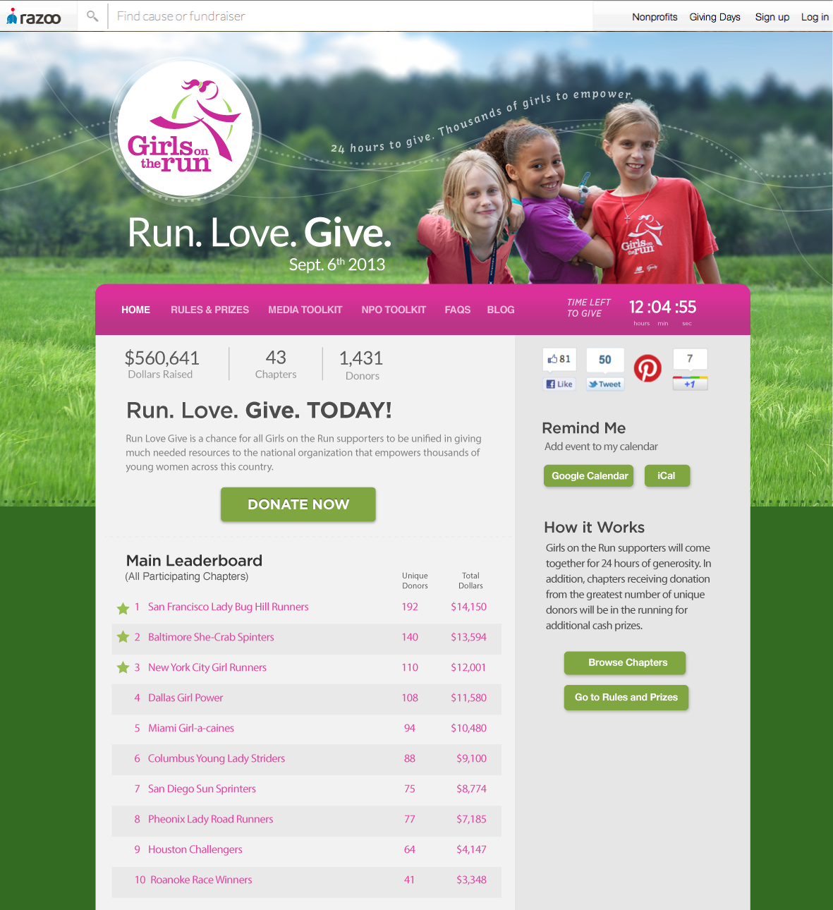 Girls on the Run Mock Up