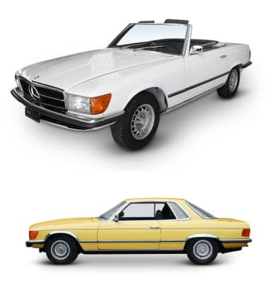 Mercedes 107 Coupe / Roadster 1971-1986