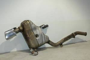 EXHAUST MUFFLER WITH PIPE