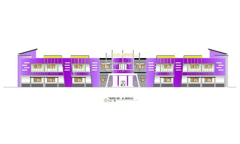 desain sekolah sma 1 longkali kab paser