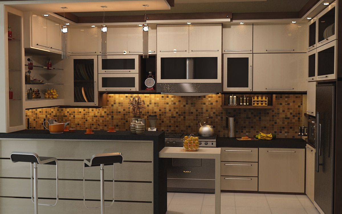 Desain kitchen set minimalis banjarmasin for How to set up kitchen cabinets