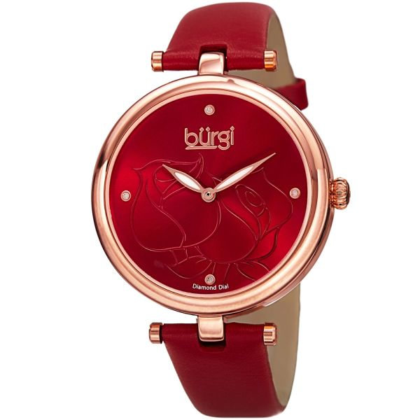 burgi watches with accents and leather