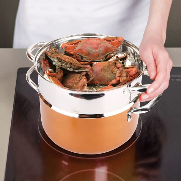 Copper Luxury 10 Piece Copper Cookware Set