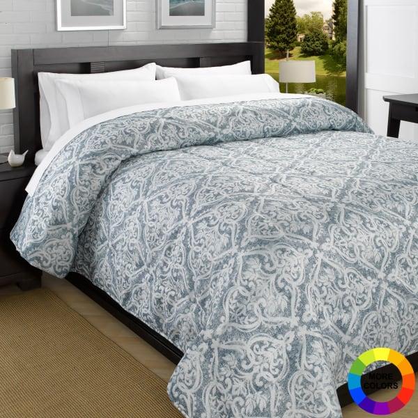 Printed down alternative lightweight comforter abigail - Home design down alternative comforter ...