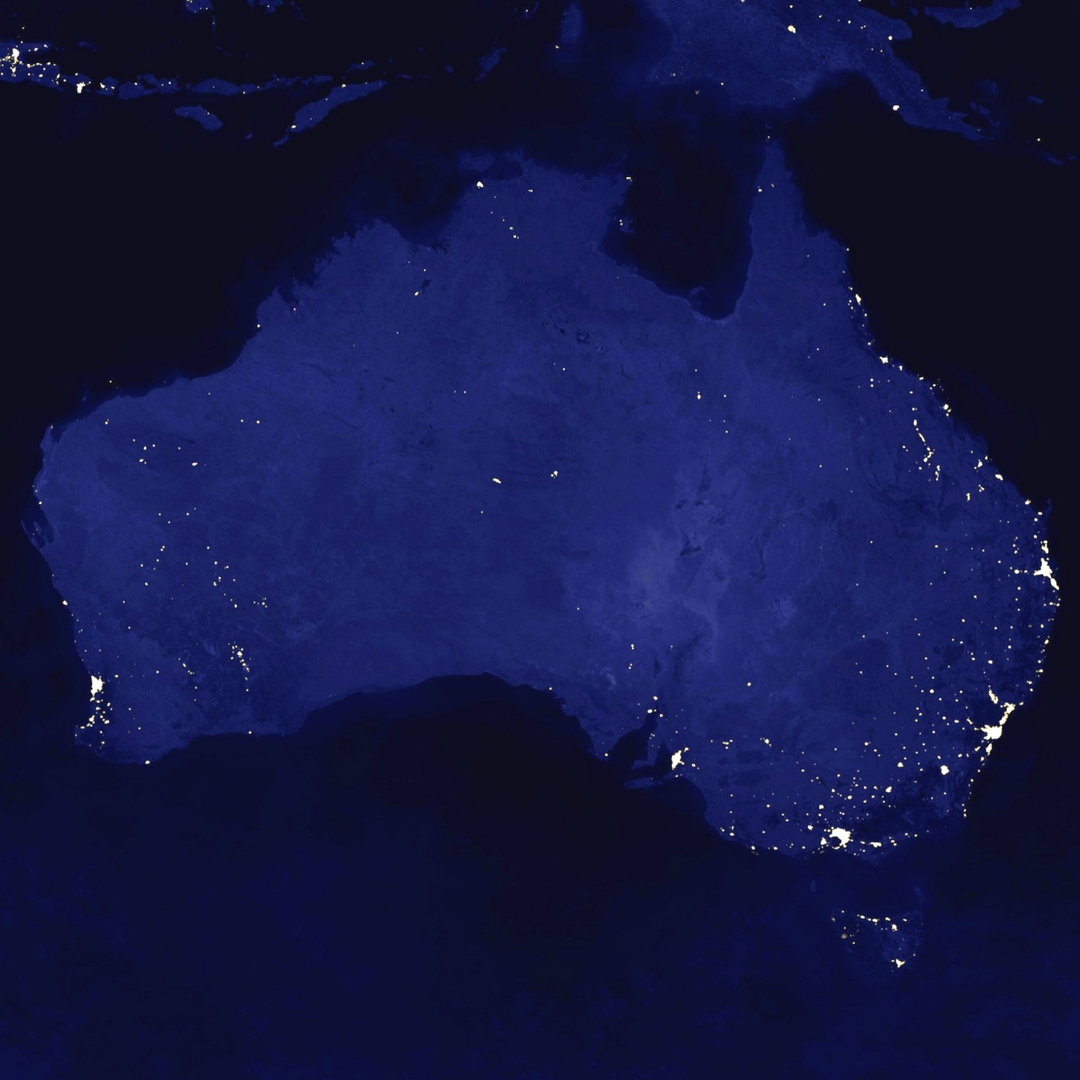 Australien bei Nacht ©NASA