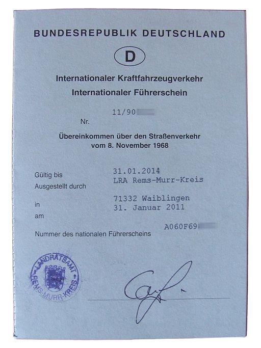 Internationale Führerschein (BRD)