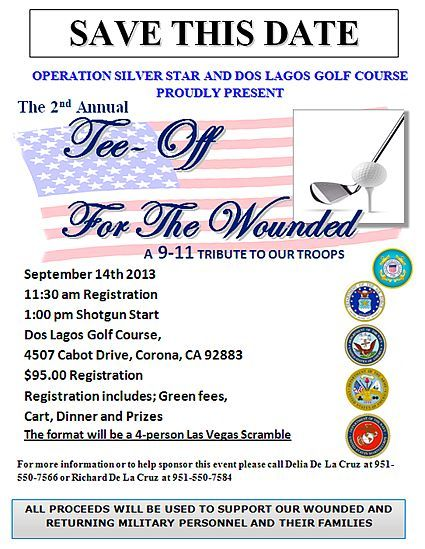 September 11, 20131st Annual Tee-Off for the Wounded